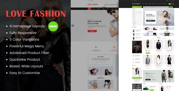 Love Fashion - Responsive Multipurpose WordPress Theme - WooCommerce eCommerce