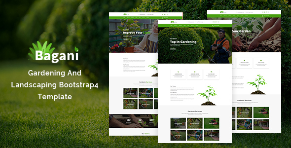 Bagani – Gardening and Landscaping Bootstrap4 Template