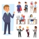 Businessman Vector People Work Place and Business