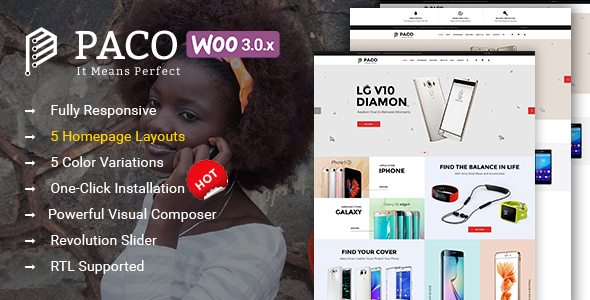 Paco - Responsive  Woocommerce WordPress Digital Theme - WooCommerce eCommerce