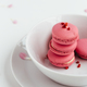 Macarons stacked in White Bowl - PhotoDune Item for Sale