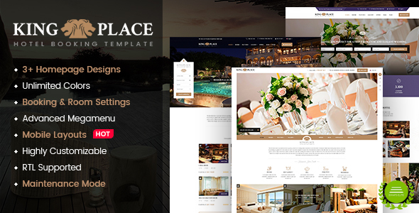KingPlace - Luxury Hotel, Resort & Spa Booking WordPress Theme - Travel Retail
