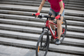 Freerider riding down city stairs - PhotoDune Item for Sale