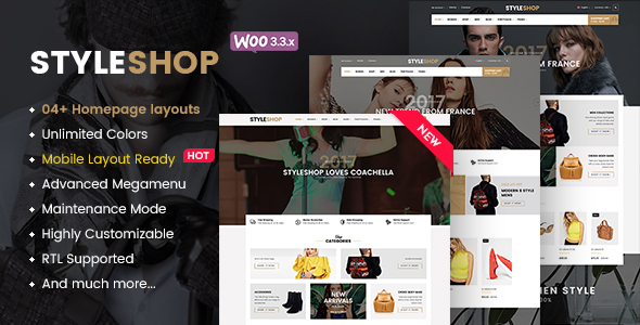 StyleShop - Multi-Purpose Responsive WooCommerce Theme (Mobile Layout Included) - WooCommerce eCommerce