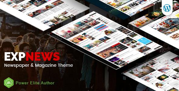 ExpNews - Responsive Newspaper and Magazine WordPress Theme