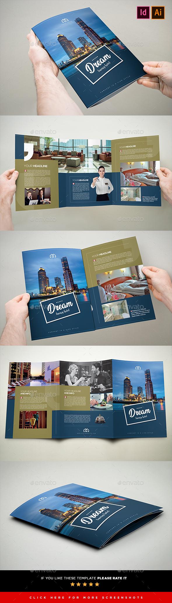 Hotel Brochure 3xA4 Tri-Fold - Brochures Print Templates