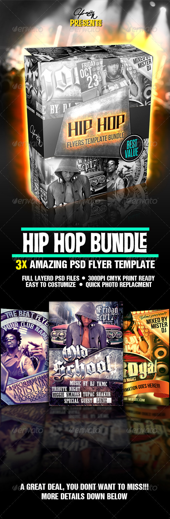 Hip Hop Flyer Bundle - Flyers Print Templates