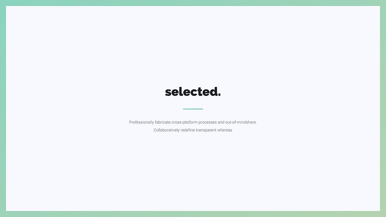 Selected - Minimal Presentation Template (Keynote)