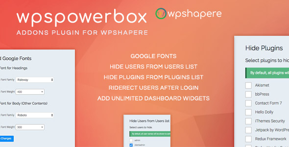 WPSPowerbox - Addon for WPShapere WordPress Admin Theme            Nulled