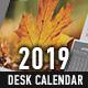 2019 Desk Calendar Template - GraphicRiver Item for Sale