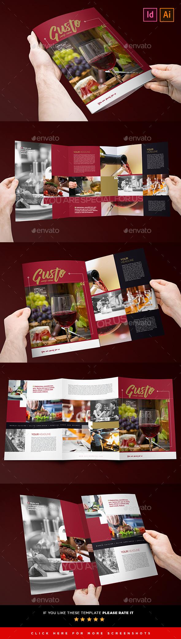 3xA4 Restaurant & Cafe Brochure - Brochures Print Templates