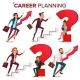 Career Planning Vector. HR Concept. Find New Job