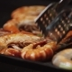 Grilling and Fried Shrimps on Electric Barbecue - VideoHive Item for Sale