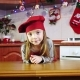 Portrait of Cute Little Girl Chef in the Christmas Kitchen - VideoHive Item for Sale