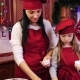 Mother and Her Daughter Puts a White Paper for Cupcake To the Form - VideoHive Item for Sale