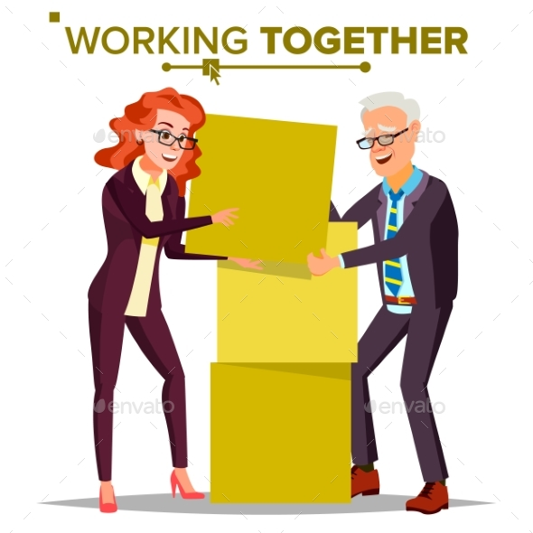 Working Together Concept Vector.  - Business Conceptual