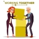 Working Together Concept Vector.