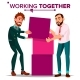 Working Together Concept Vector. Businessman.