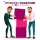 Working Together Concept Vector. Businessman. - GraphicRiver Item for Sale