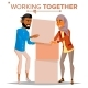 Working Together Concept Vector
