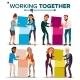 Working Together Concept Vector. Communication - GraphicRiver Item for Sale