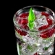 Cold Drink with Blackberries and Mint on a Black Background - VideoHive Item for Sale
