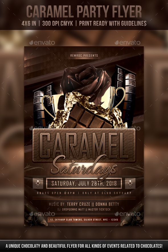 Caramel Party Flyer - Clubs & Parties Events