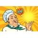 Cook Chef Man Presentation Gesture