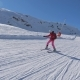 Beginner Skier Skiing Down The Mountain Slope And Learns To Turn Skis - VideoHive Item for Sale