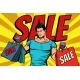 Man with Bags on Sale - GraphicRiver Item for Sale