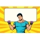 Man Holding Banner Blank - GraphicRiver Item for Sale