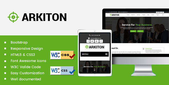 Arkiton - Build Up Bootstrap Template
