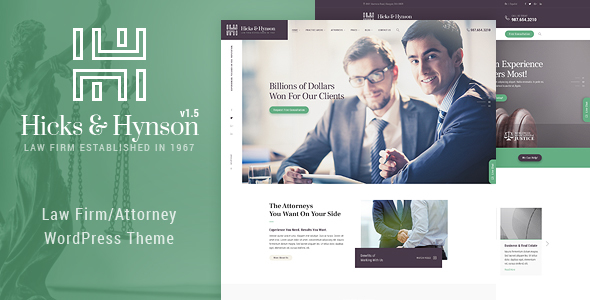 Hicks & Hynson - Law Firm/Attorney  WordPress Theme - Business Corporate