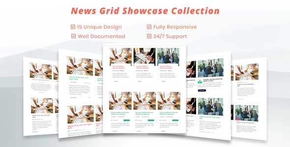 Blog / News Grid CSS Showcase  - Blog Grid and News Grid Rersponsive Showcase            Nulled