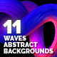 Waves Abstract Backgrounds - GraphicRiver Item for Sale
