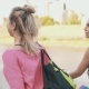 Backview of Two Fitness Girls Walking To Training with Sport Bag at Morning - VideoHive Item for Sale