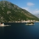Aerial View of the Our Lady of the Rocks Church and Island of Sveti Djordje in the Kotor Bay Near - VideoHive Item for Sale