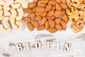 Inscription biotin with various dried fruits containing vitamin B7 and dietary fiber - PhotoDune Item for Sale