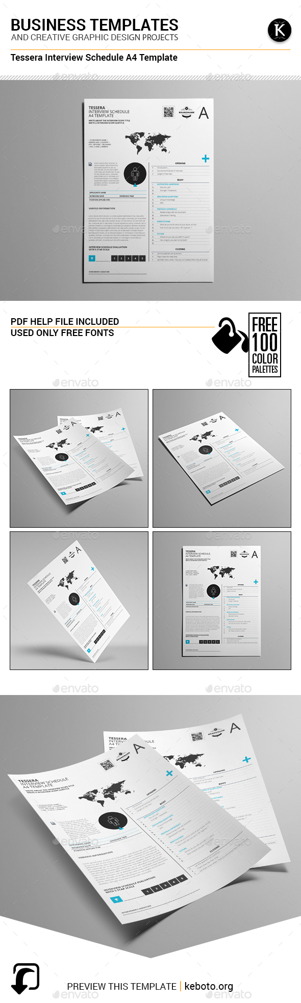 Tessera Interview Schedule A4 Template - Miscellaneous Print Templates