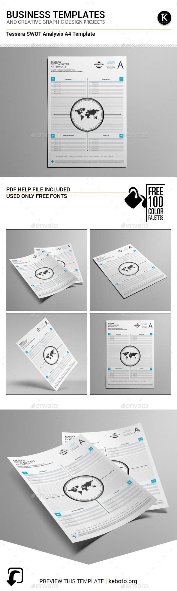 Tessera SWOT Analysis A4 Template - Miscellaneous Print Templates