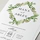 Leaves Wedding Invitation - GraphicRiver Item for Sale