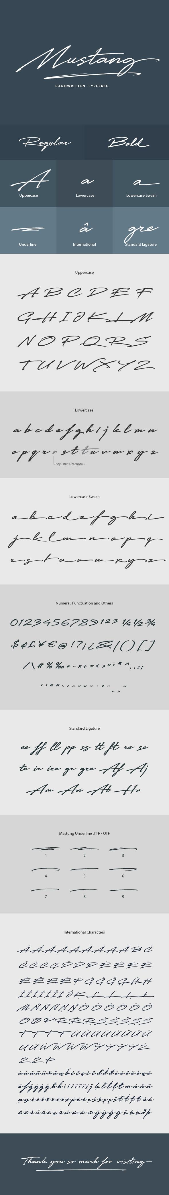 Mustang Font - Hand-writing Script