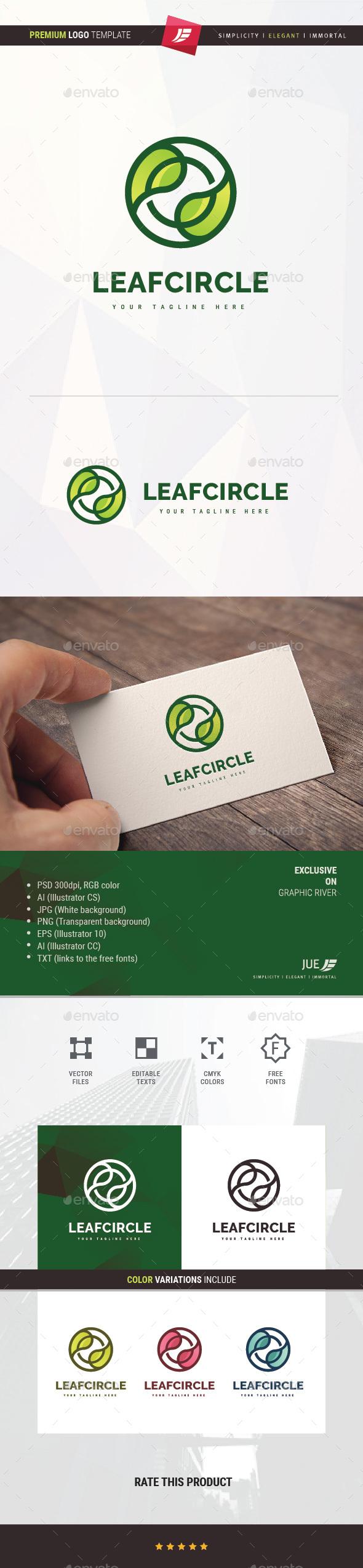 Leaf Circle Logo - Nature Logo Templates