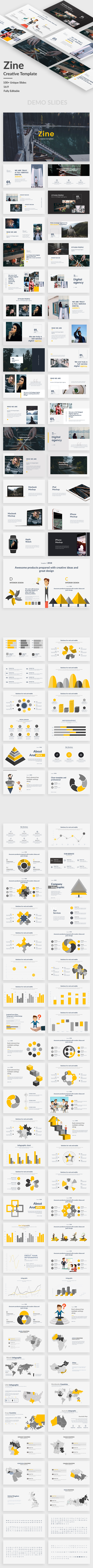Zine Creative Powerpoint Template - Creative PowerPoint Templates