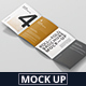 Roll-Fold Brochure Mockup - Din A4 A5 A6 - GraphicRiver Item for Sale