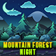 Mountain Forest Night- Game Background - Side Scrolling