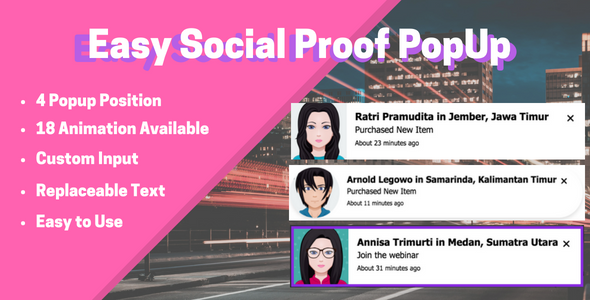 Easy Social Proof Popup (WordPress)