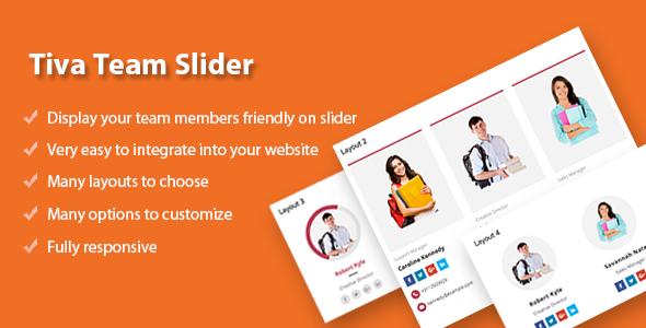 Tiva Team Slider For Wordpress            Nulled