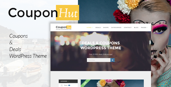 CouponHut - Coupons & Deals WordPress Theme - Directory & Listings Corporate