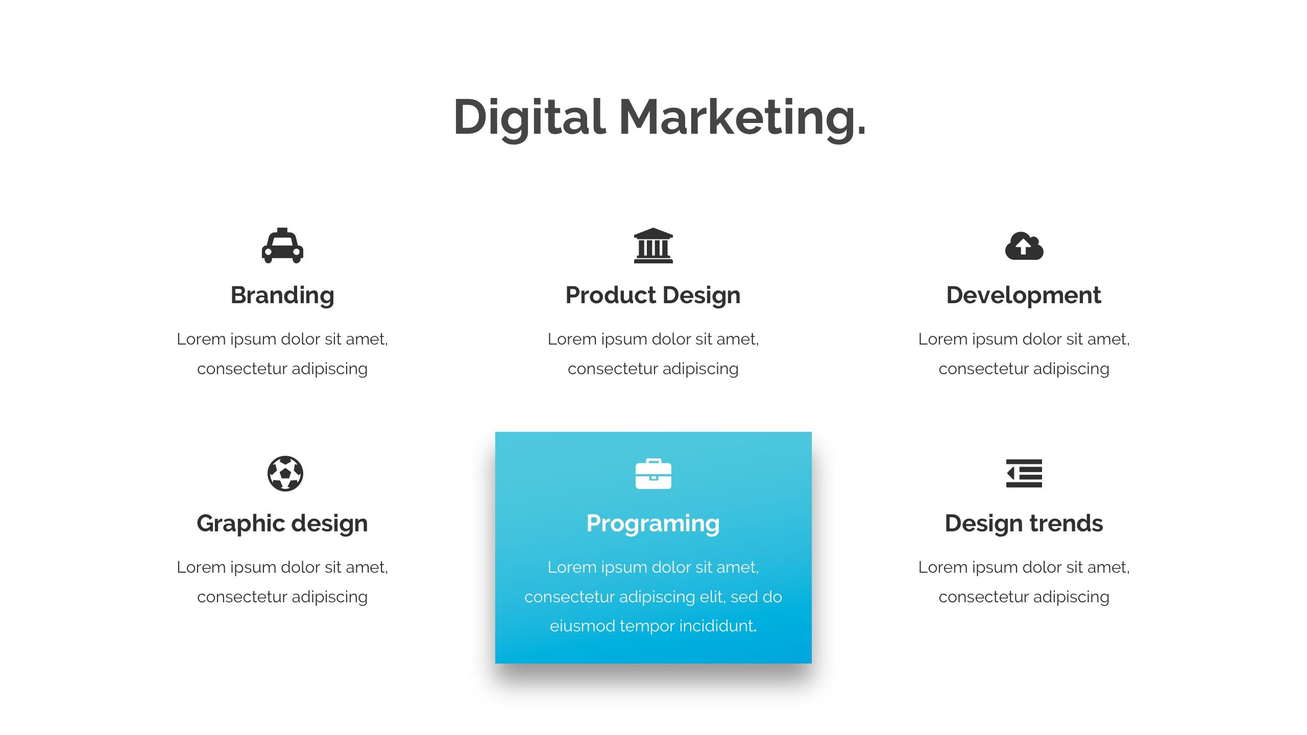 Modern & Creative Google Slide Template